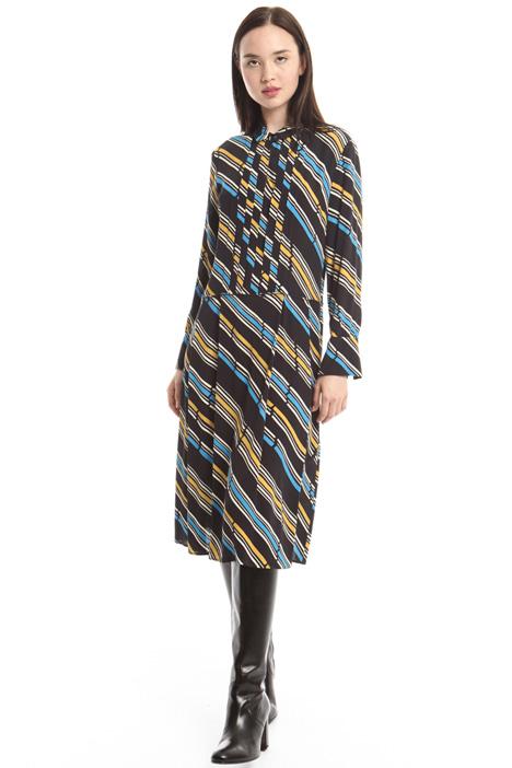 Printed crepe dress Diffusione Tessile