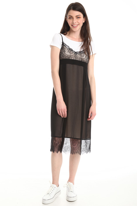 Lace and georgette dress Diffusione Tessile