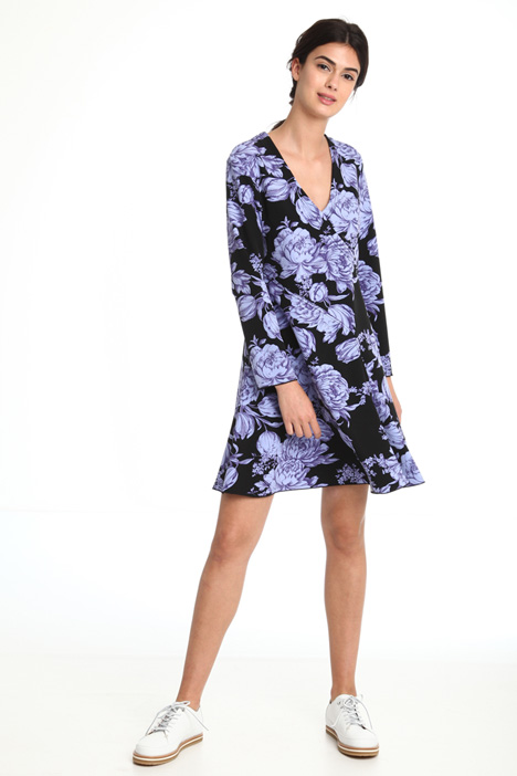 Flared floral dress Diffusione Tessile