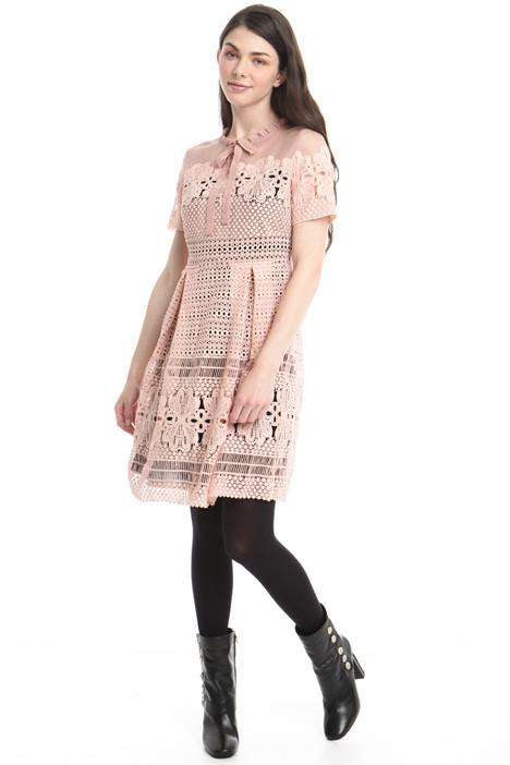 Macramé lace and organza dress Intrend