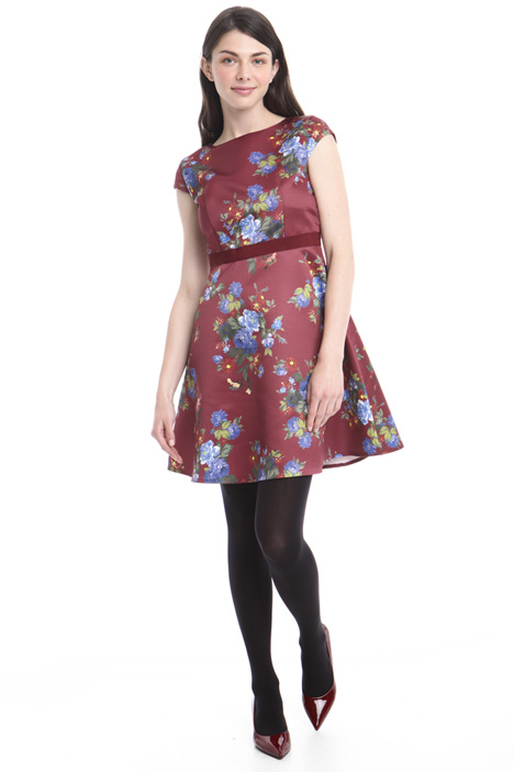 Floral-printed faille dress Intrend