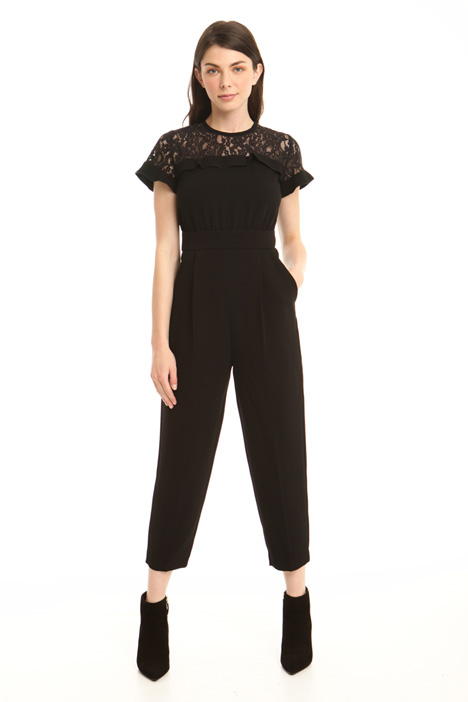Lace yoke jumpsuit Intrend