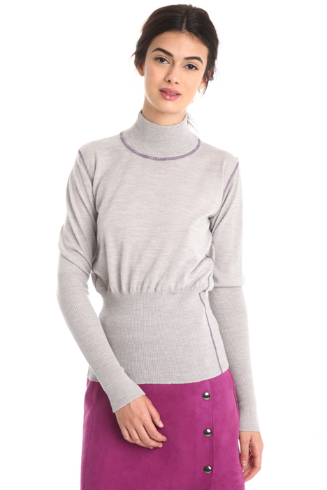 Fitted wool sweater Intrend