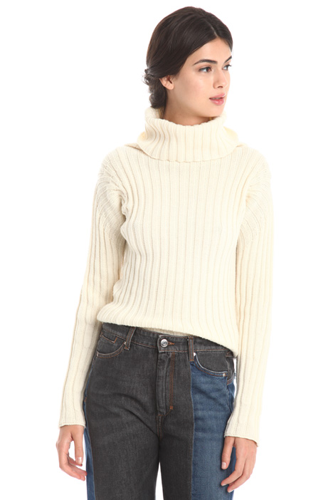 Turtleneck in virgin wool  Diffusione Tessile