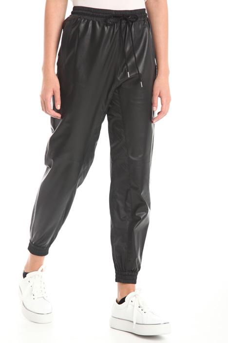 Bi-material jogging trousers  Diffusione Tessile
