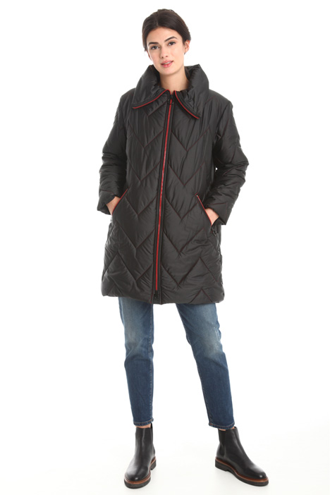 Padded jacket with stand collar Diffusione Tessile