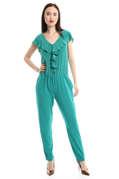 Jersey crepe jumpsuit Diffusione Tessile