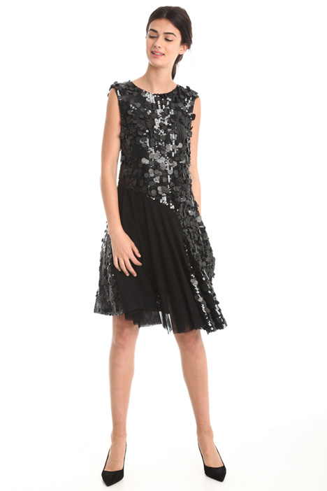 Dress with sequin embroidery  Intrend