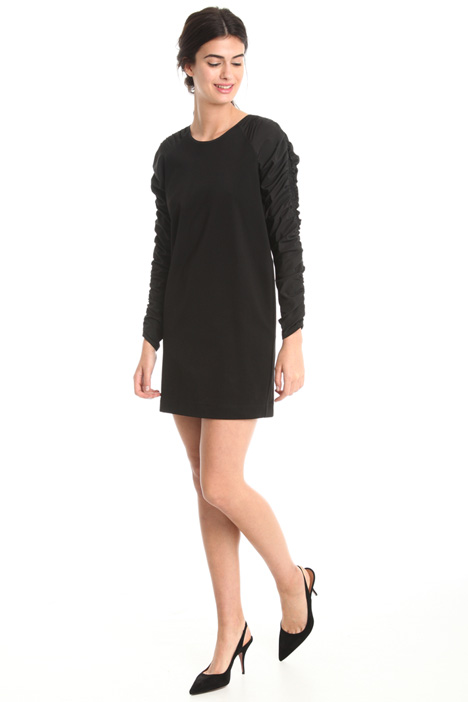 Dress with gathered sleeves  Intrend