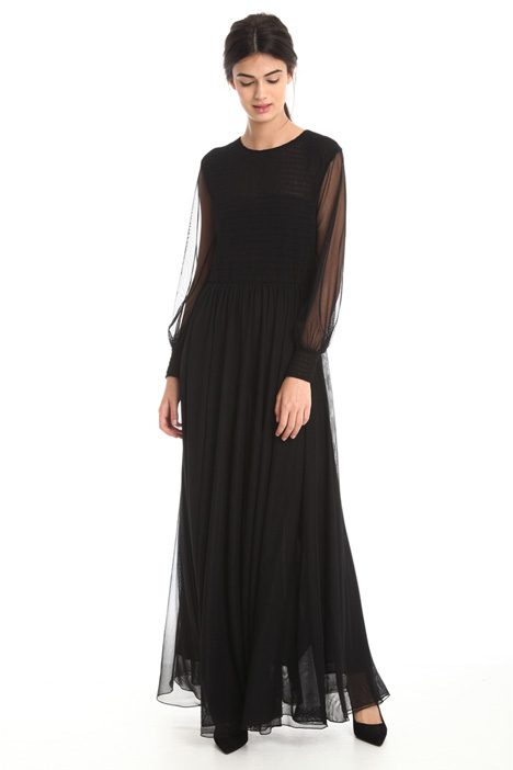 Fluid tulle stretch dress Intrend