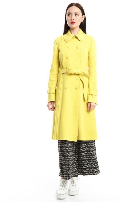 Wool jersey coat Diffusione Tessile