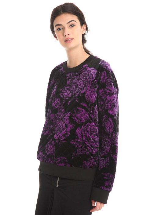 Quilted floral sweatshirt Diffusione Tessile