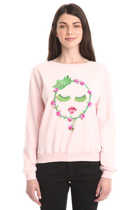 Sweatshirt with appliqué Diffusione Tessile
