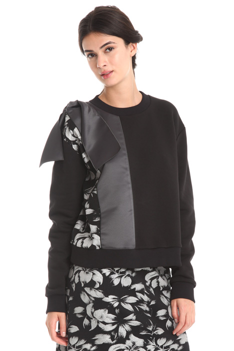 Sweatshirt with satin insert  Diffusione Tessile