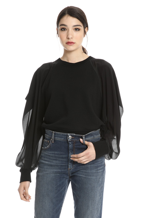 Silk sleeve sweatshirt Intrend