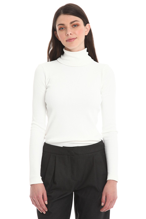 Rib turtleneck top Diffusione Tessile