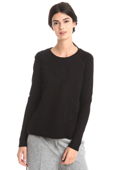 Embroidered viscose sweatshirt  Diffusione Tessile