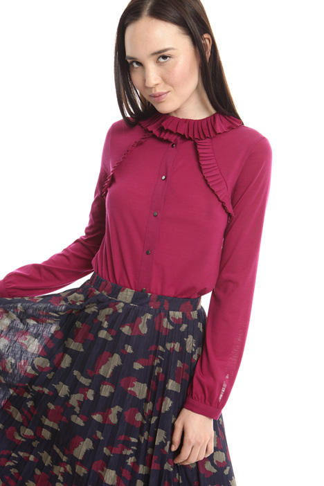 T-shirt in jersey di lana Diffusione Tessile