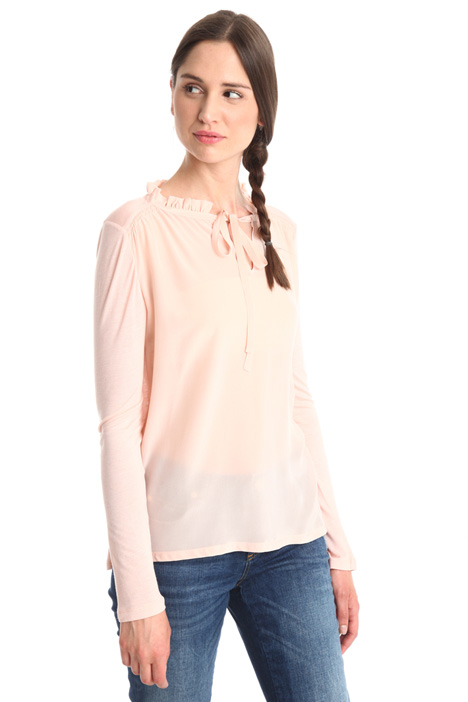 Crepe and jersey T-shirt Diffusione Tessile