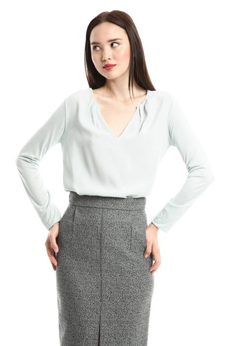 T-shirt con scollo a V Diffusione Tessile