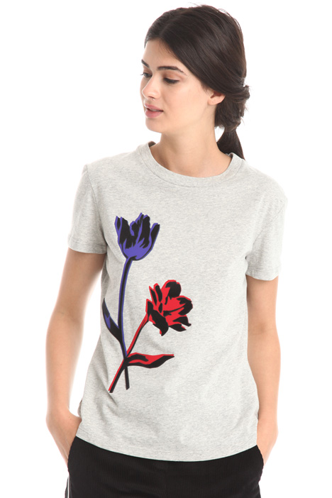 T-shirt with maxi application  Diffusione Tessile