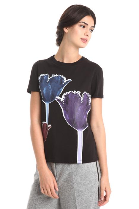 T-shirt con maxi appliacazione Diffusione Tessile