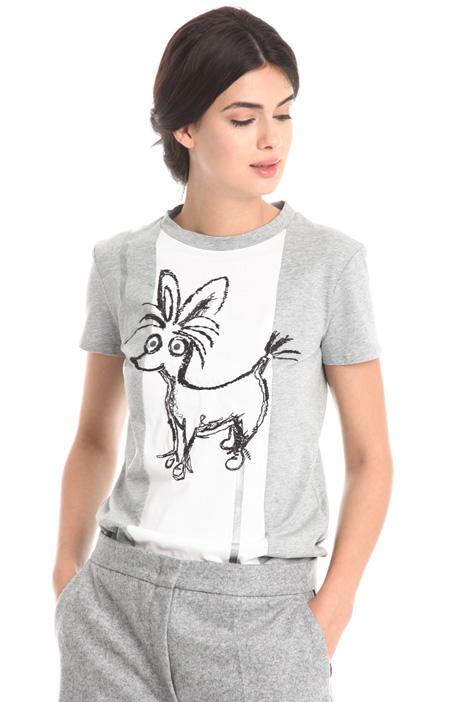 T-shirt in cotone ricamato Diffusione Tessile
