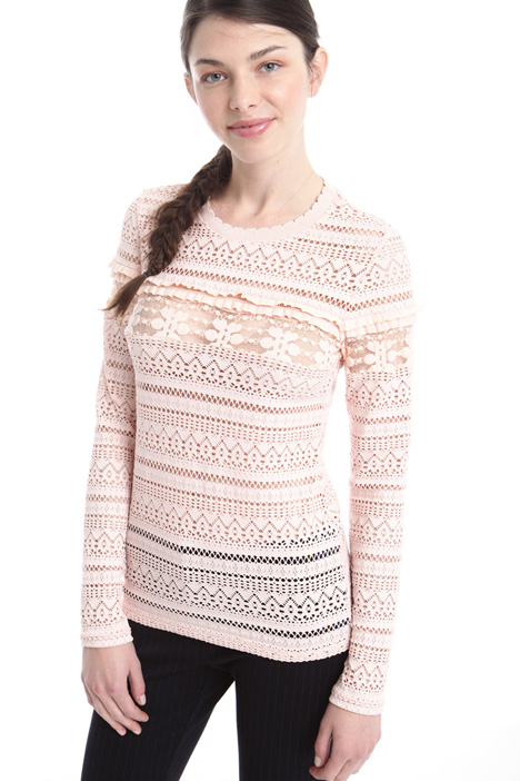 Open knit jersey top Diffusione Tessile