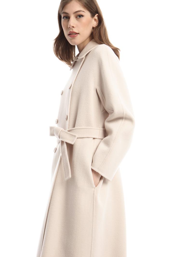 Double-breasted drap coat Diffusione Tessile