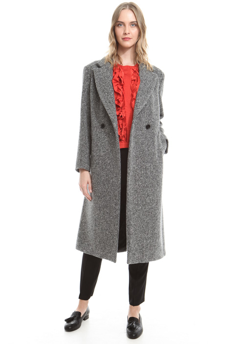 Virgin wool coat Diffusione Tessile