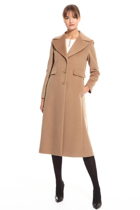 Cappotto lungo con revers Diffusione Tessile