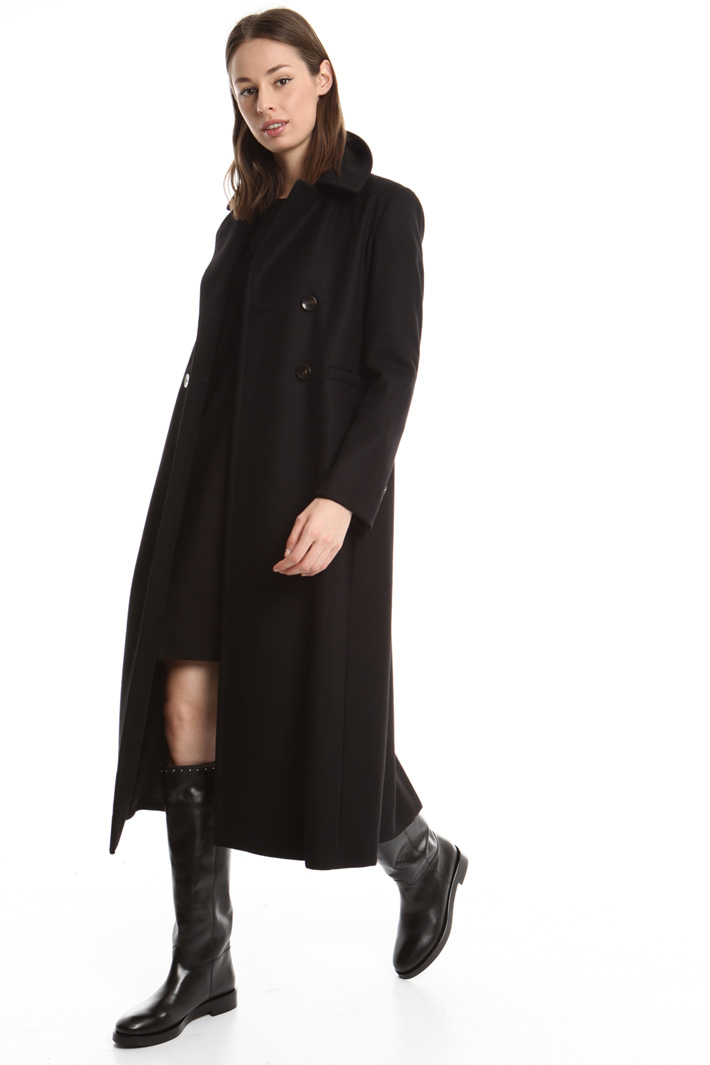 Cappotto lungo in lana Diffusione Tessile