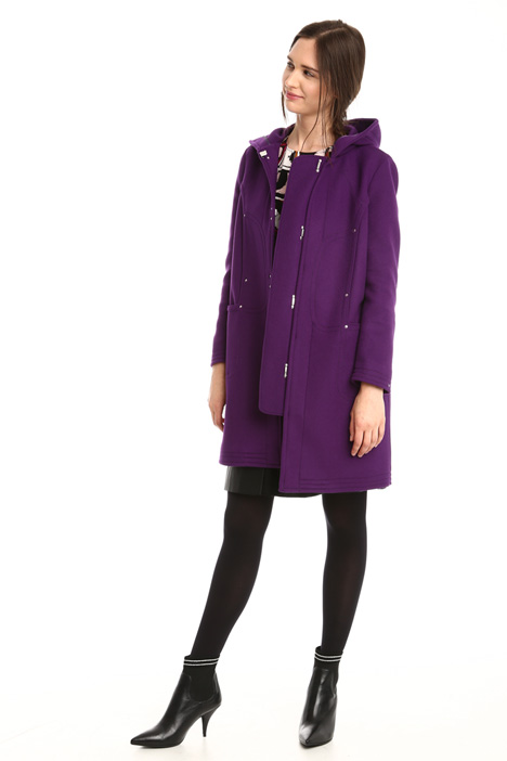 Hooded wool coat Diffusione Tessile