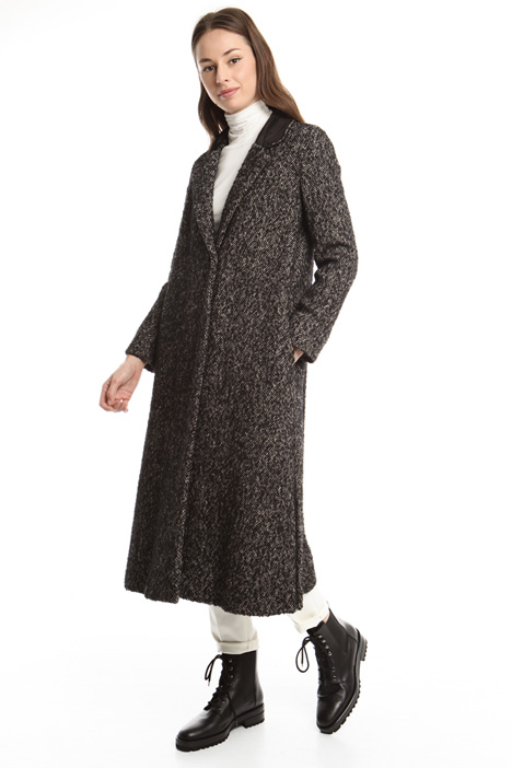 Cappotto in tweed di lana Diffusione Tessile