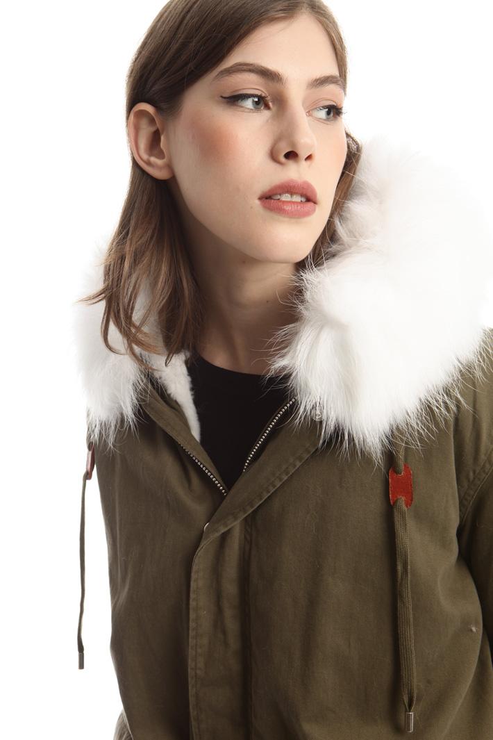 Parka con pelliccia lapin Diffusione Tessile