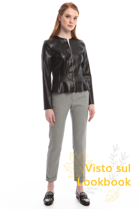 Fitted leather-effect jacket Diffusione Tessile