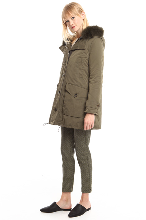 Parka with fox-fur detailing Diffusione Tessile