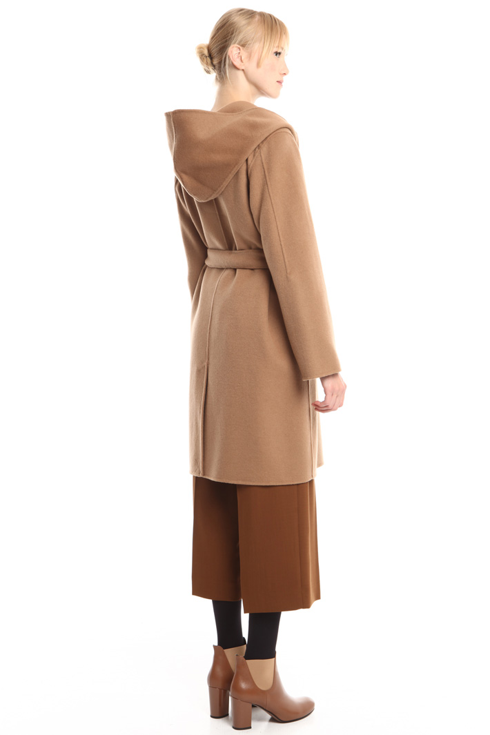 Cappotto in drap con cappuccio Diffusione Tessile