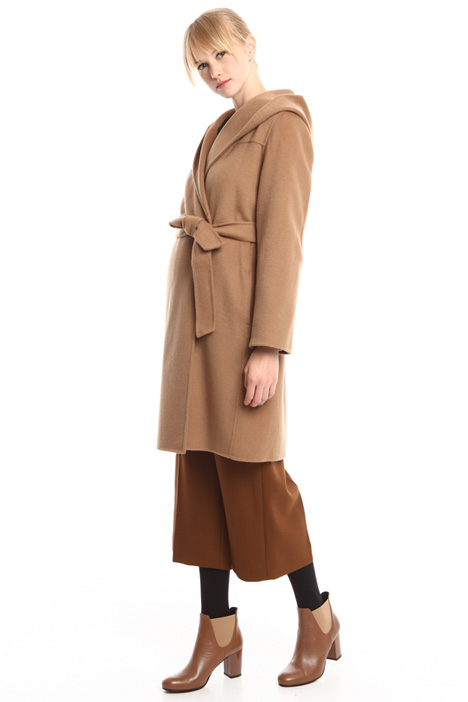 Hooded drap coat Intrend