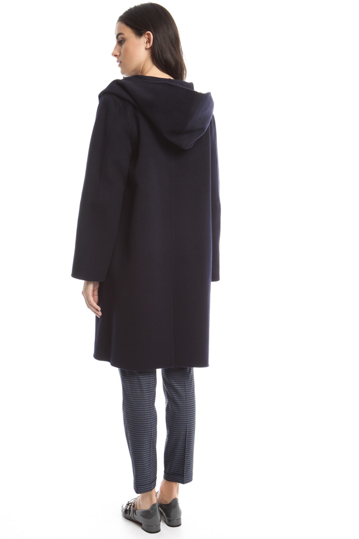 Hooded drap coat Diffusione Tessile