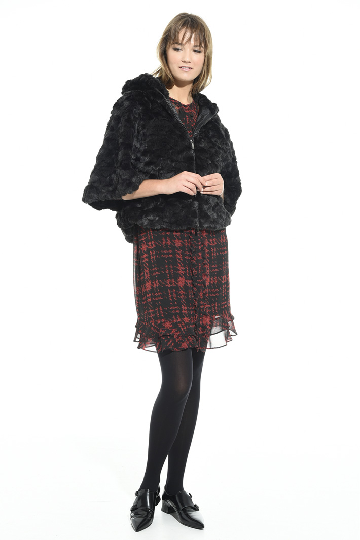 Fur-effect jacket Intrend