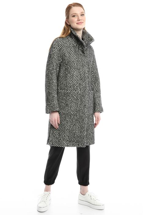 Cappotto chevron in lana Diffusione Tessile