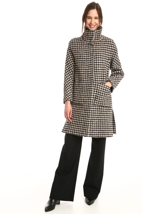 Checked virgin wool coat Diffusione Tessile