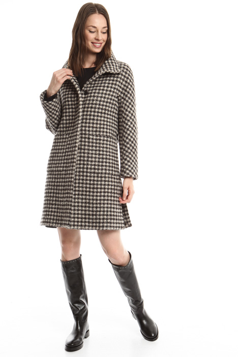 Checked virgin wool coat Intrend