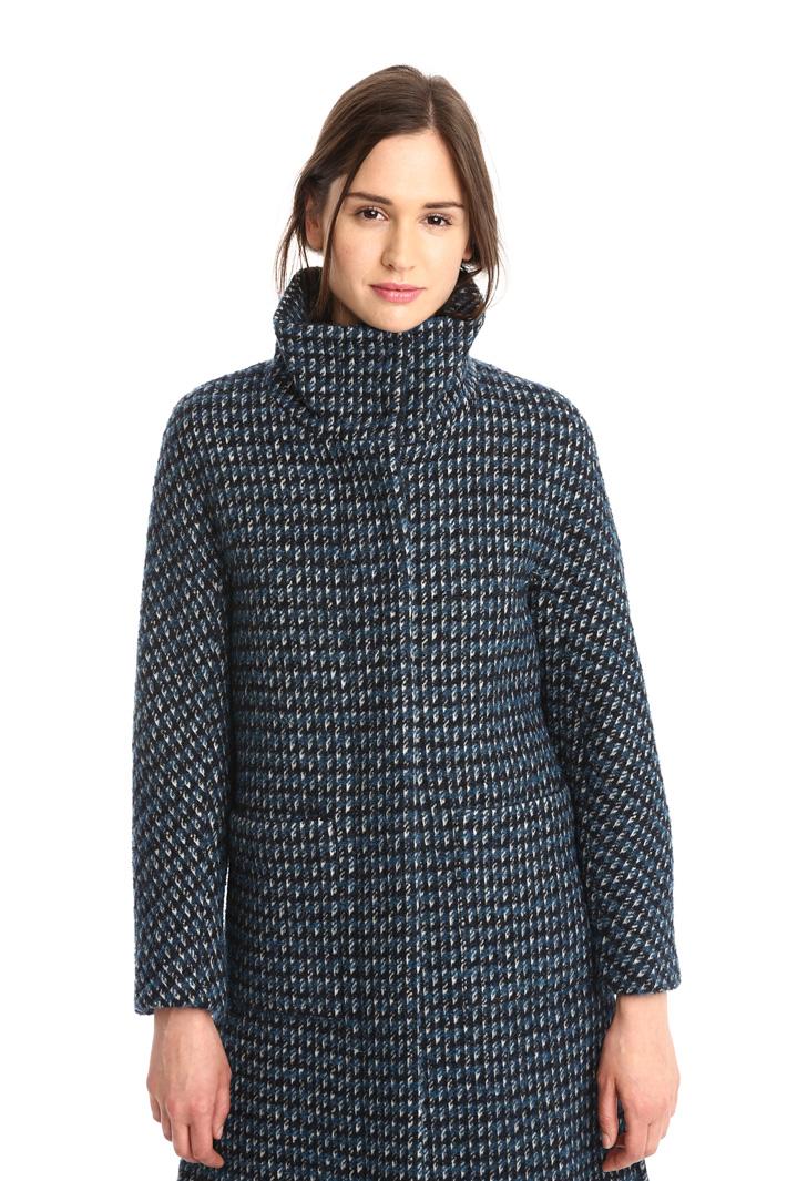 Cappotto check in lana vergine Diffusione Tessile