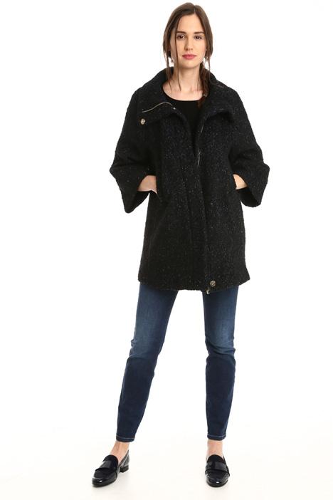 Cappa in tweed di lana Diffusione Tessile