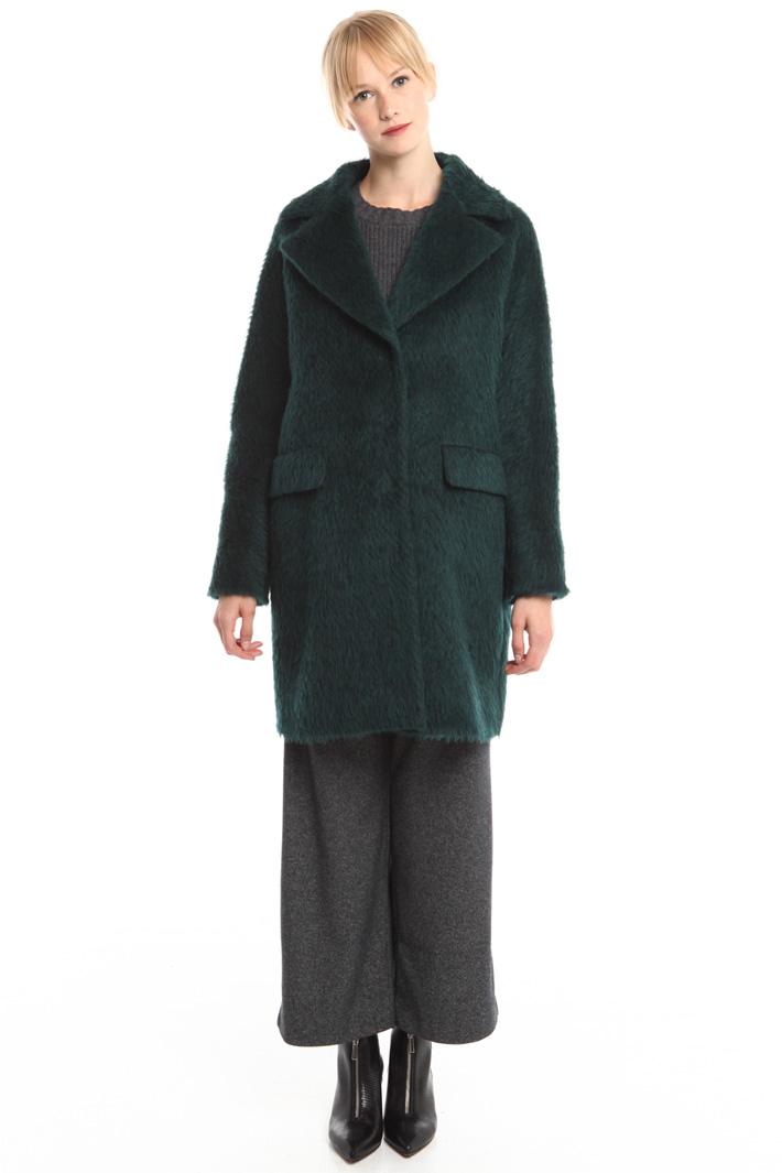 Brushed wool coat Diffusione Tessile