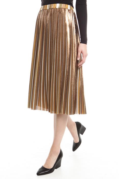 Laminated plissé skirt Diffusione Tessile