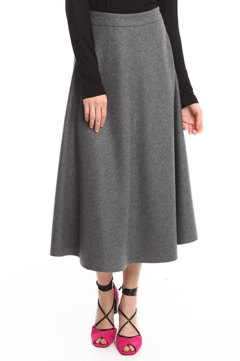 Wool blend midi skirt Intrend