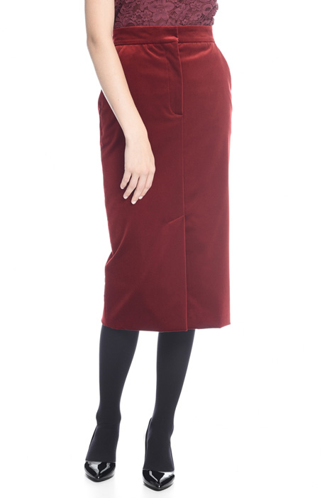 Smooth velvet longuette skirt Diffusione Tessile